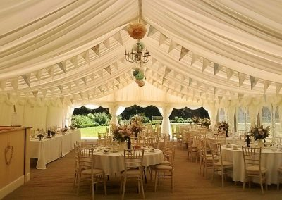 Marquee reception set up